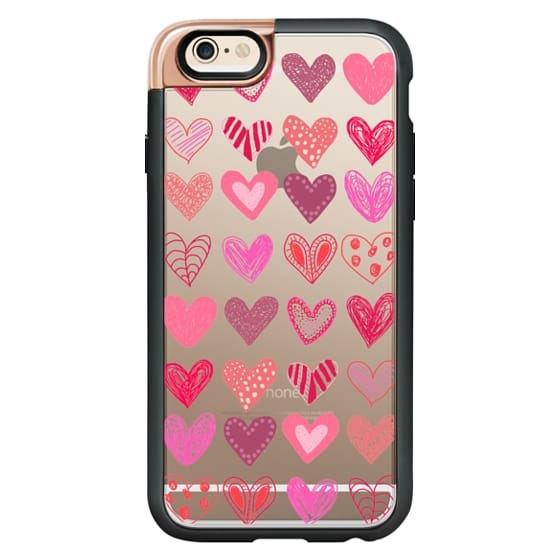 iPhone 6s Cases - Many Hearts Metalux Transparent