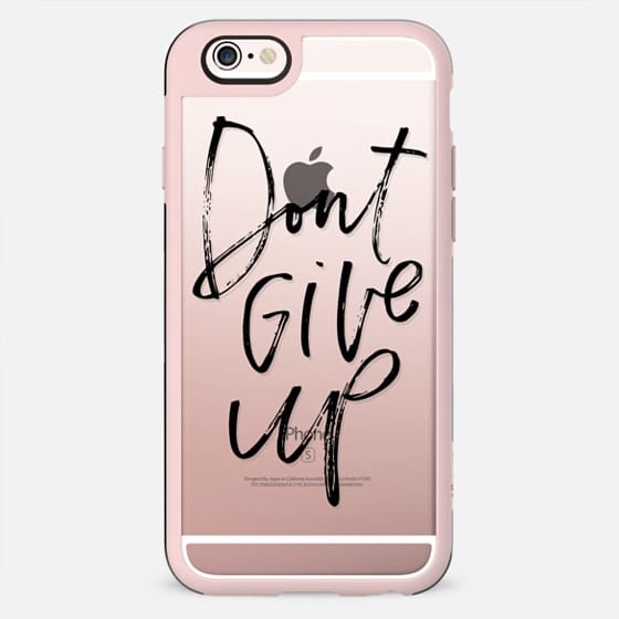 dont give up // hand lettered  (black)