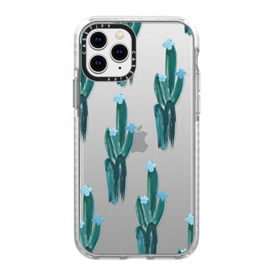iPhone 11 Pro Cases - Blue Floral Cacti