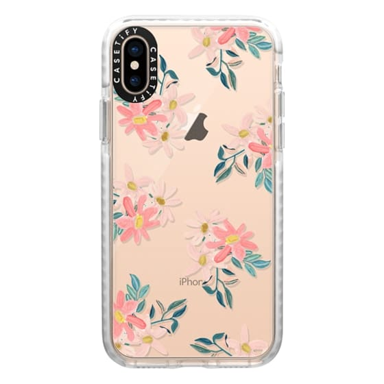 iPhone XS Cases - Pink Daisies