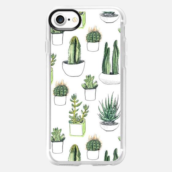 Watercolor Cacti & Succulents - Wallet Case