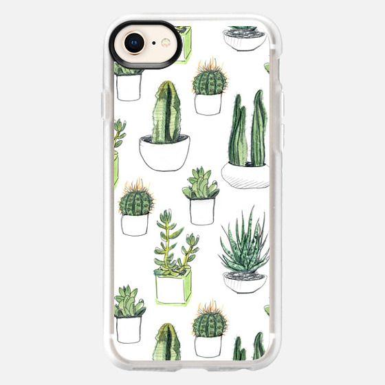 Watercolor Cacti & Succulents - Snap Case