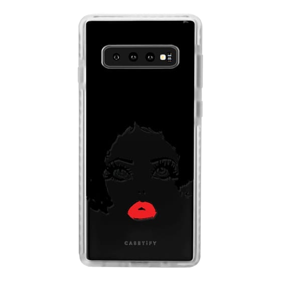 Samsung Galaxy S10 Cases - Lashes and Red Lip