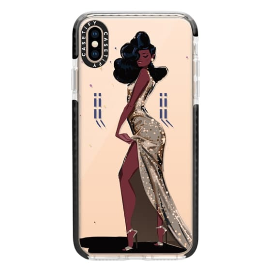 iPhone XS Max Cases - Gold Sequins