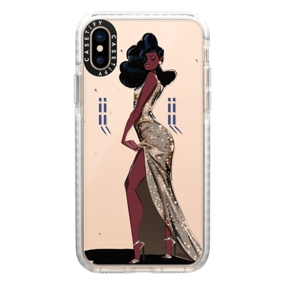 iPhone XS Cases - Gold Sequins