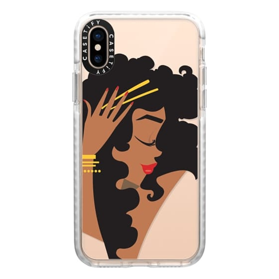 iPhone XS Cases - Gold Curls