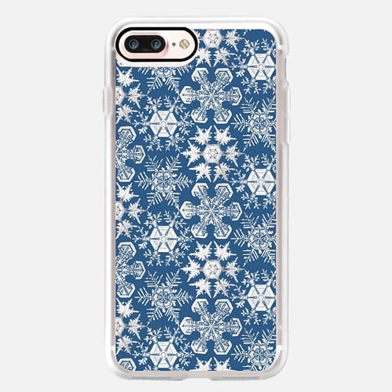 Lots of Snowflakes on Blue -