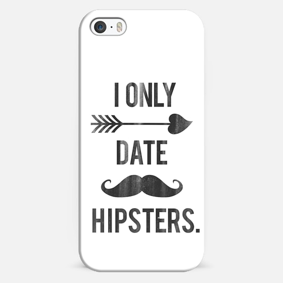 I Only Date Hipsters Mustache Cupid Design - Classic Snap Case