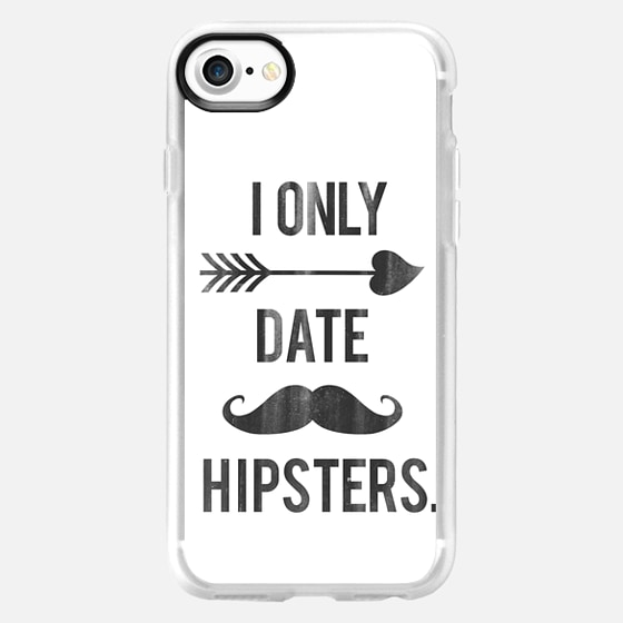 I Only Date Hipsters Mustache Cupid Design -