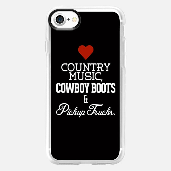 Love Country Music, Cowboy Boots and Pickup Trucks -