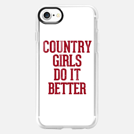 Country Girls Do it Better Typography -