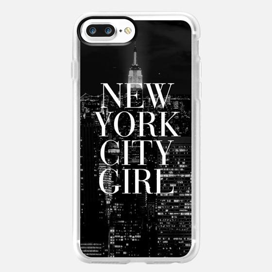 New York City Girl Black and White Skyline iPhone 6 Case -
