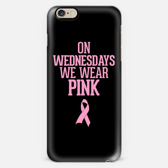 On Wednesdays We Wear Pink Breast Cancer Ribbon Design -