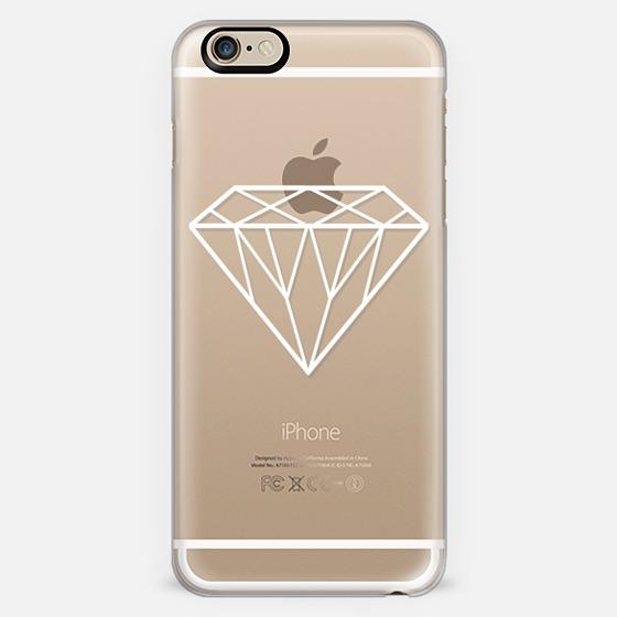 White Transparent Diamond Design -