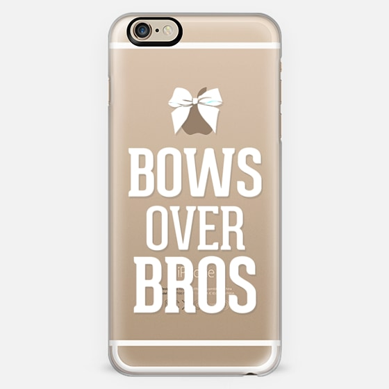 Bows over Bros White Typography Transparent Print -