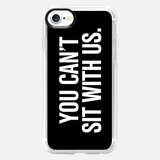 You Can't Sit With Us Mean Girls Black Typography Print - Wallet Case