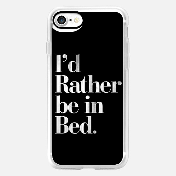 I'd Rather be in Bed Vintage Boho Typography -