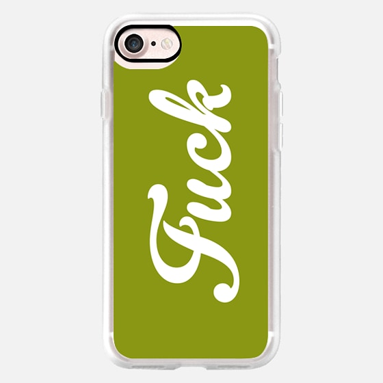 Fuck Vintage Boho Hipster Typography Military Moss Green -