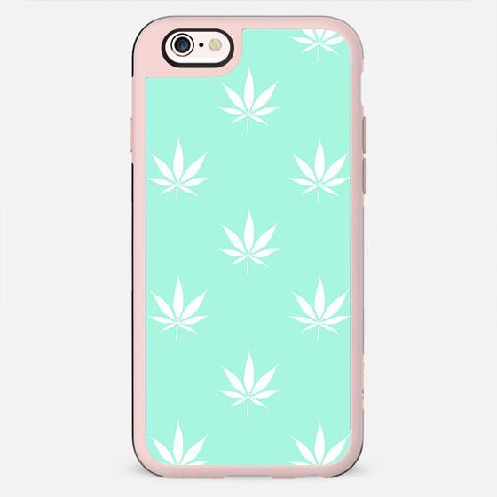 Tiffany Mermaid Turquoise Mint Blue Cannabis Pot Leaf Pattern  - New Standard Case