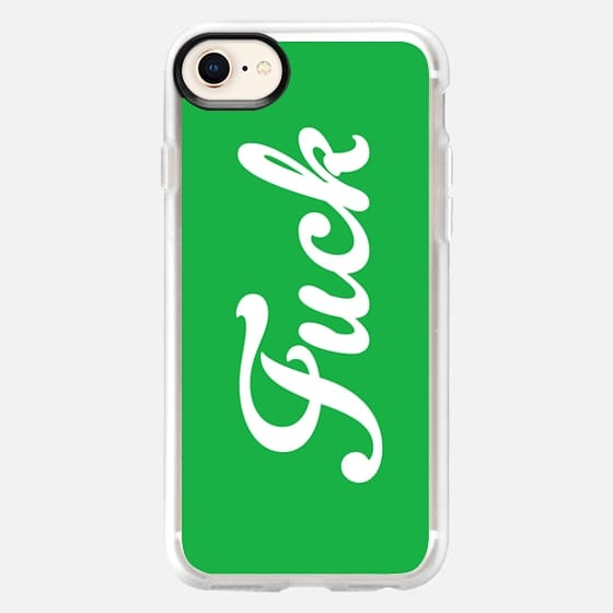 Fuck Vintage Boho Hipster Typography Fresh Grass Green - Snap Case