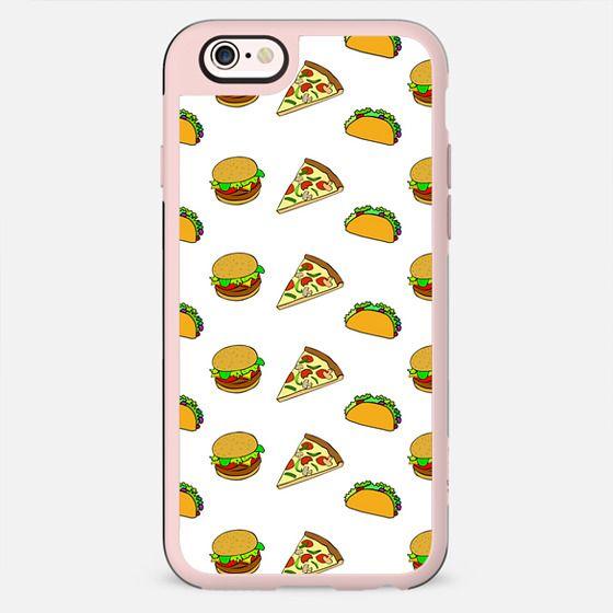 Pizza Taco Burger Pattern - New Standard Case