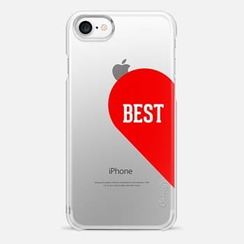 iPhone 7 Case Best half heart typography design