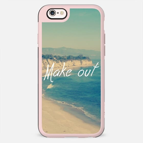 Make Out Vintage Beach Typography Design - New Standard Case