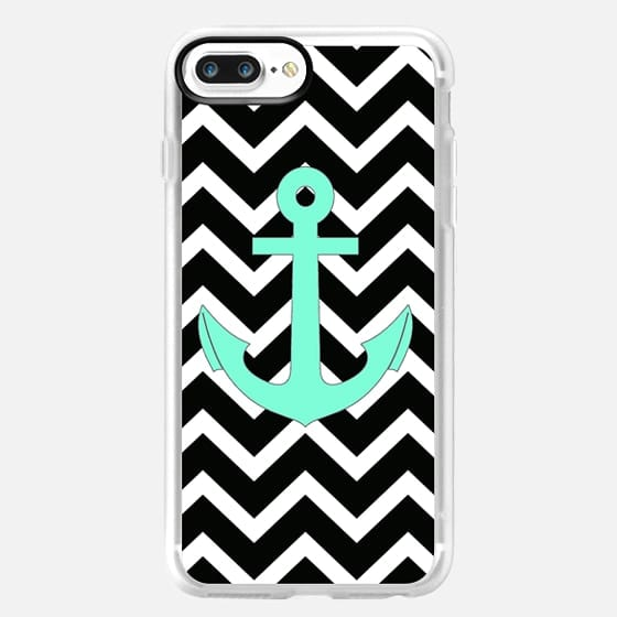 Tiffany Anchor Black Chevron Pattern -