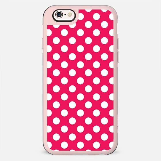 Infra Red Magenta Polka Dot Pattern -