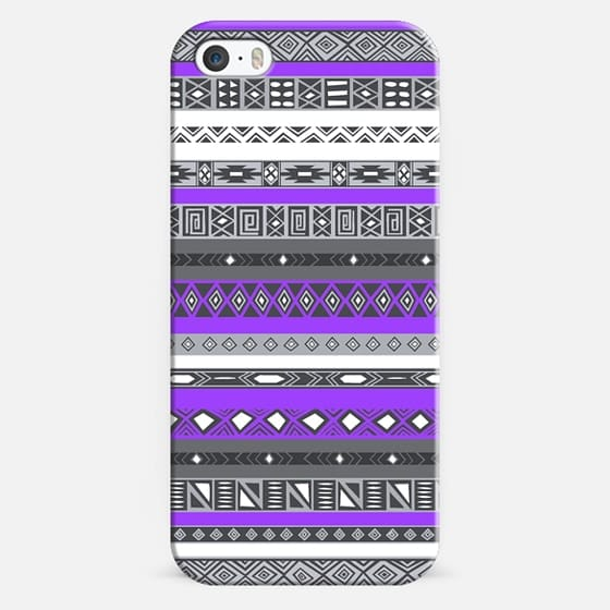 Electric Purple Aztec Pattern - Classic Snap Case