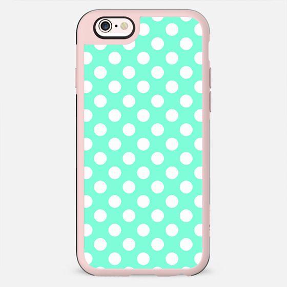 Tiffany Aqua Turquoise Polka Dot Pattern -