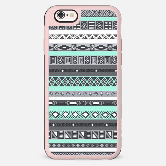 Pastel Mint / Pale Turquoise Aztec Pattern Design - New Standard Case