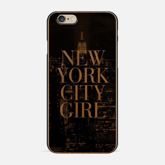 New York City Girl Black & White Manhattan Skyline -