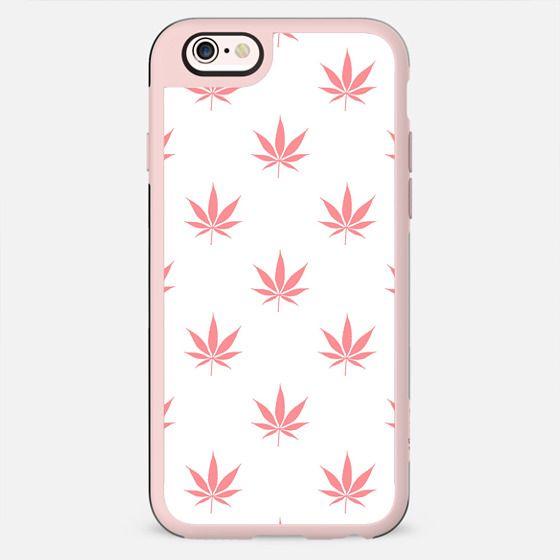 Coral Peach Cannabis Pot leaf Pattern - New Standard Case