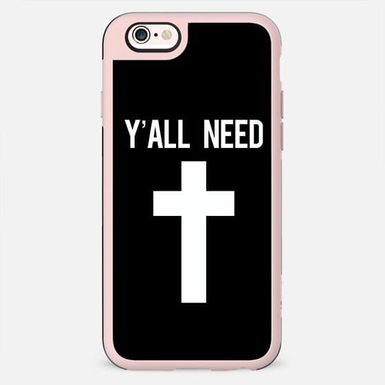 Y'all need Jesus black cross print - New Standard Case