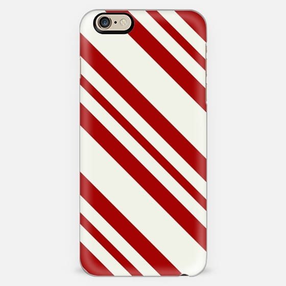 Red Candy Cane Pattern -