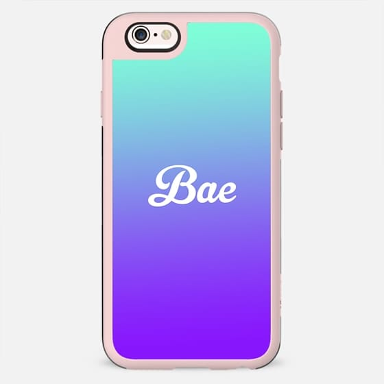 Bae Turquoise Purple Gradient Fade - New Standard Case