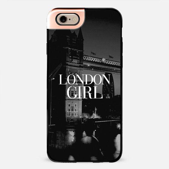 London Girl Tower Bridge Vogue Typography Black & White -