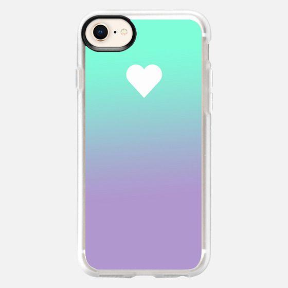 Tiffany Purple Fade Apple Heart - Snap Case