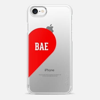 iPhone 7 Case Bae Half Heart Typography Design