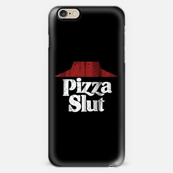 Pizza Slut Black Vintage Print -