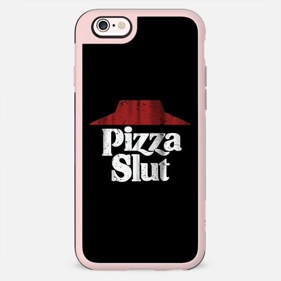 Pizza Slut Black Vintage Print