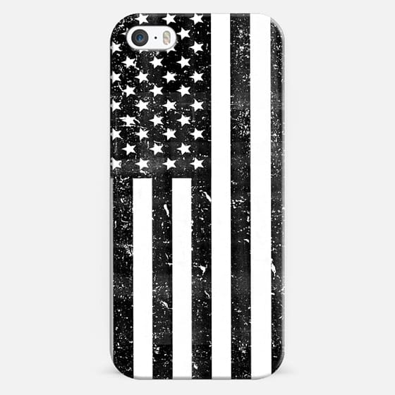 Black and White Dirty Vintage American Flag USA -
