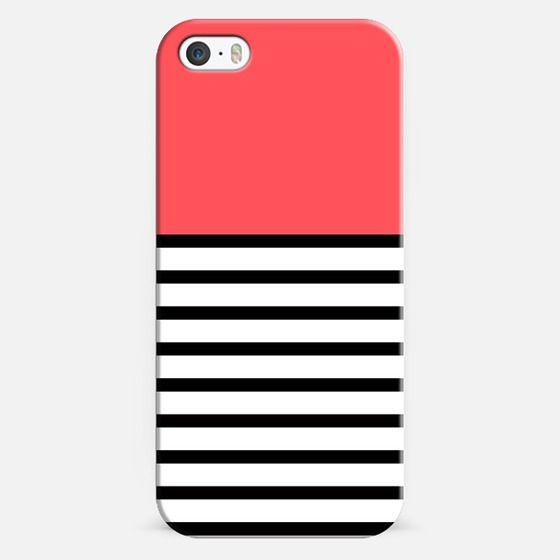 Infra Red Black Stripe Pattern Design - Classic Snap Case