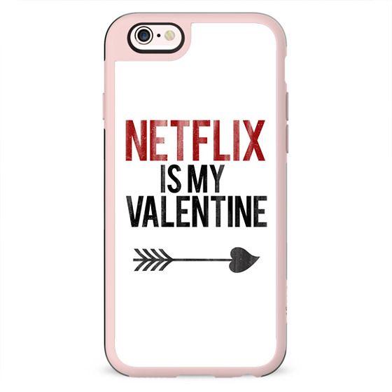 Netflix is my Valentine Cupid Love Heart Arrow Vintage Print