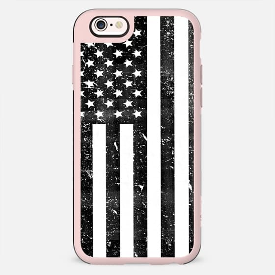 Black and White Dirty Vintage American Flag USA