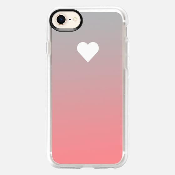 Peach Fade Apple Heart - Snap Case