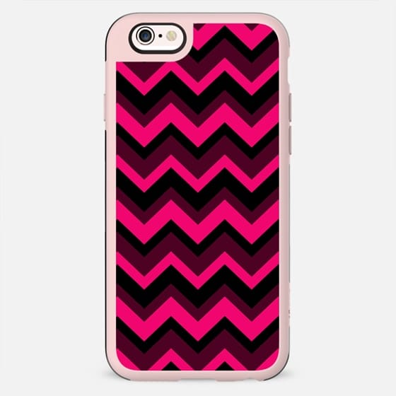 Magenta Rouge Chevron Pattern Design -
