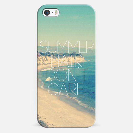 Summer Hair Don't Care Vintage Instagram Beach -