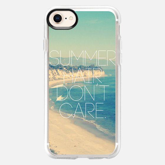 Summer Hair Don't Care Vintage Instagram Beach - Snap Case